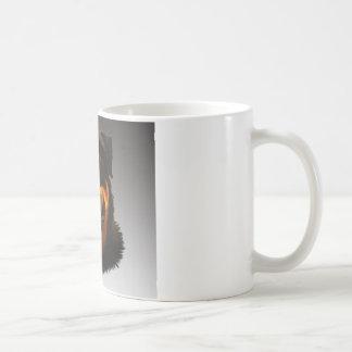 Cute Rottweiler Dog Water Color Art Portrait Coffee Mug