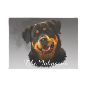 Rottweiler Doormats Amp Welcome Mats Zazzle