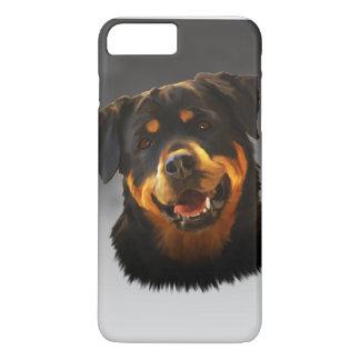 Cute Rottweiler Dog Water Color Art Portrait iPhone 7 Plus Case