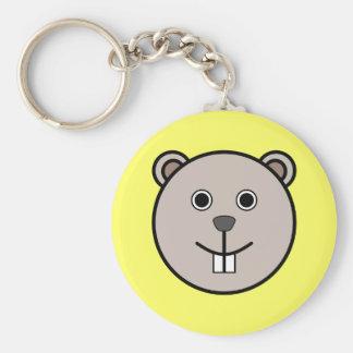 Cute Round Cartoon Bear Face Keychain