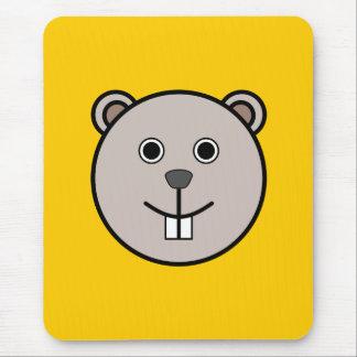 Cute Round Cartoon Bear Face Mouse Pad