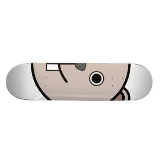 Cute Round Cartoon Bear Face Skate Board Decks