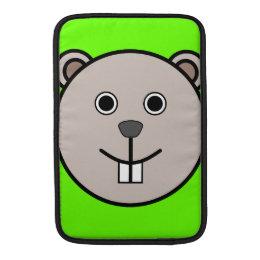 Cute Round Cartoon Bear Face Sleeve For MacBook Air