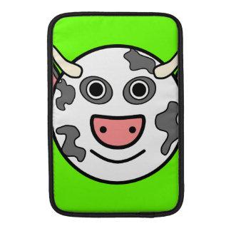 Cute Round Cartoon Cow Face MacBook Air Sleeves