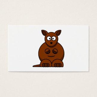 Cute Round Cartoon Kangaroo Business Card