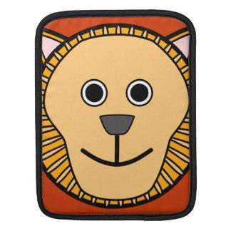 Cute Round Cartoon Lion Face Sleeve For iPads