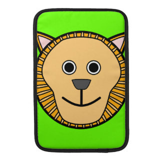 Cute Round Cartoon Lion Face Sleeve For MacBook Air