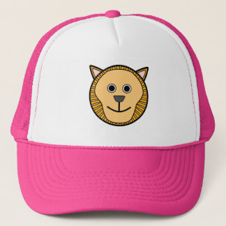 Cute Round Cartoon Lion Face Trucker Hat