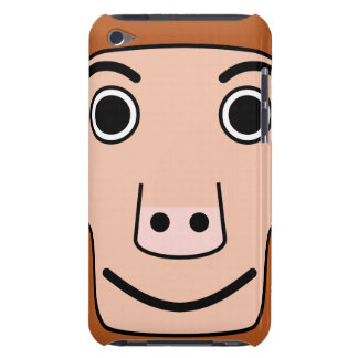 Cute Round Cartoon Monkey Face iPod Touch Cases