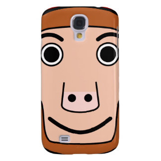 Cute Round Cartoon Monkey Face Samsung Galaxy S4 Cover