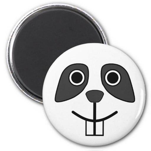 Cute Round Cartoon Panda Face 2 Inch Round Magnet
