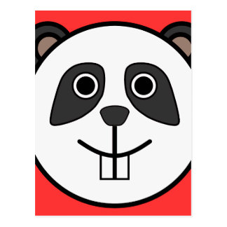 Cute Round Cartoon Panda Face Postcard