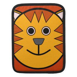 Cute Round Cartoon Tiger iPad Sleeve