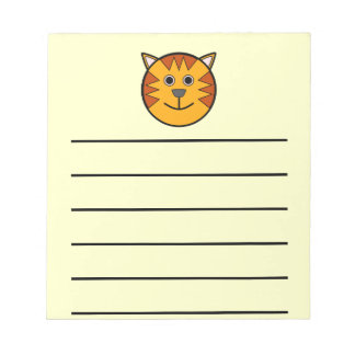Cute Round Cartoon Tiger Note Pad