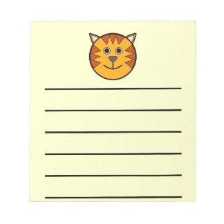 Cute Round Cartoon Tiger Notepad
