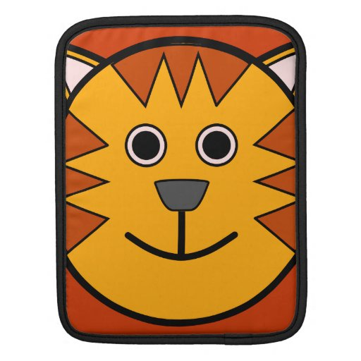 Cute Round Cartoon Tiger Sleeves For iPads