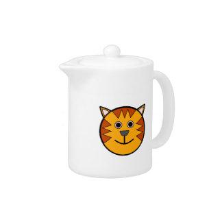 Cute Round Cartoon Tiger Teapot