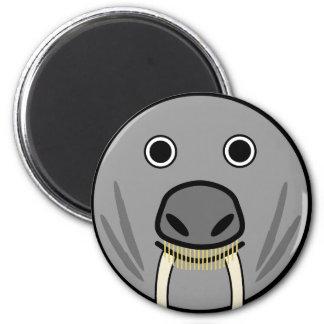 Cute Round Cartoon Walrus Face Refrigerator Magnets