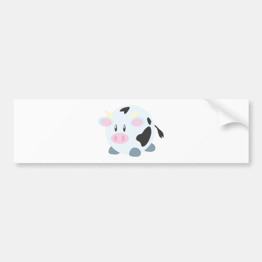 Cute Round Cow Bumper Sticker