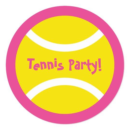 Cute round girls tennis birthday party invitations zazzle cute round girls tennis birthday party invitations filmwisefo