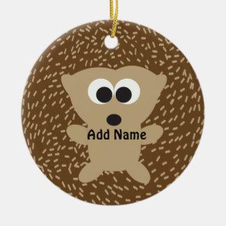 Cute Round Hedgehog Ceramic Ornament