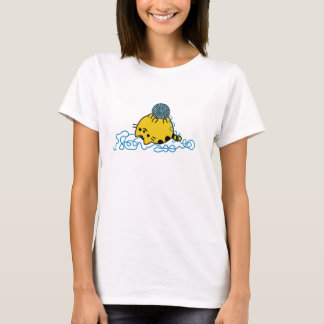 Cute Round Kitty Playing With Yarn Ball T-Shirt