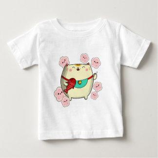 Cute Round Maneki Neko Cat Baby T-Shirt