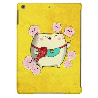 Cute Round Maneki Neko Cat iPad Air Cases