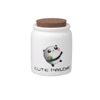 Cute Round Panda Candy Dishes
