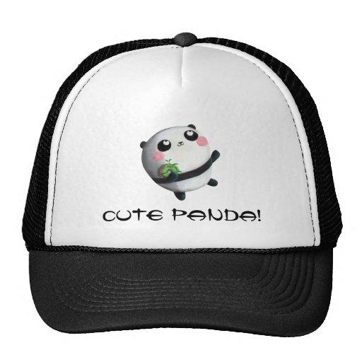 Cute Round Panda Mesh Hat