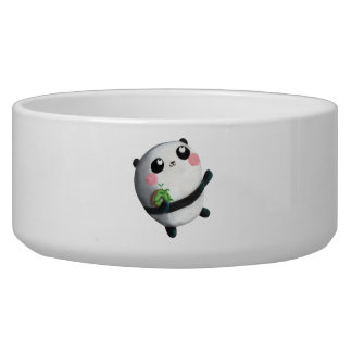Cute Round Panda Dog Bowls