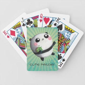 Cute Round Panda Bicycle Card Decks
