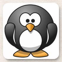 Cute Round Penguin Designs Coaster