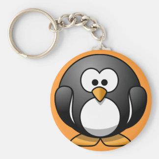 Cute Round Penguin Designs Keychain