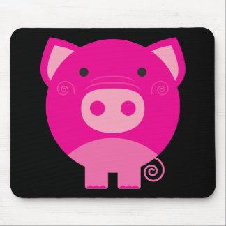 Cute Round Pig Cartoon Mouse Pad