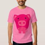 Cute Round Pig Cartoon Tee Shirt