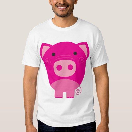 Cute Round Pig Cartoon Tees