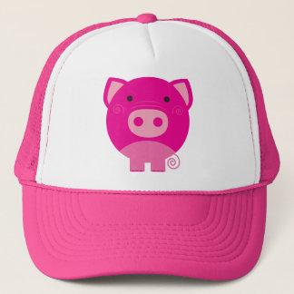 Cute Round Pig Cartoon Trucker Hat