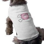 cute round pink piggy crossbones design pet shirt