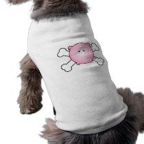 cute round pink piggy crossbones design T-Shirt