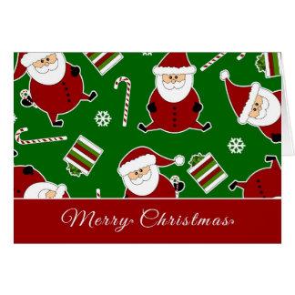 Cute Round Santa Christmas Card