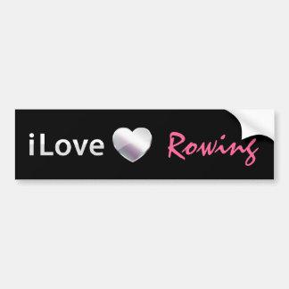 Cute Rowing Bumper Sticker