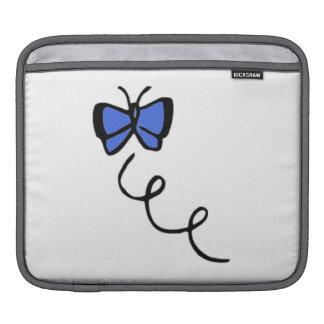 Cute Royal Blue Butterfly iPad Sleeves