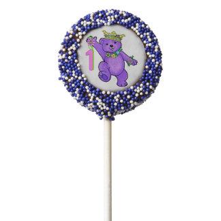 Cute Royal Princess Bear 1st Birthday Party Chocolate Dipped Oreo Pop