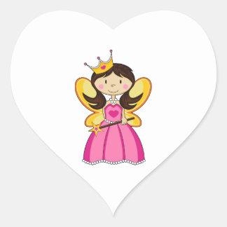 Cute Royal Princess Heart Sticker
