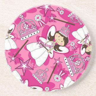 Cute Royal Princess Pattern Coaster