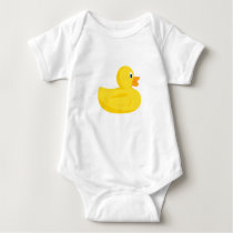 Cute Rubber Duck Bath Time Body Suit Baby Bodysuit