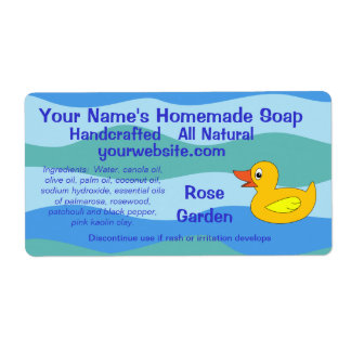 Cute Rubber Duck Homemade Soap Labels Template
