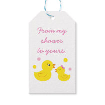 Cute Rubber Duck Party Favor Tags