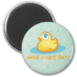 Cute rubber duck with bubbles magnet
